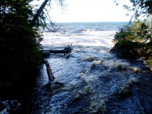hurricane river meets the lake