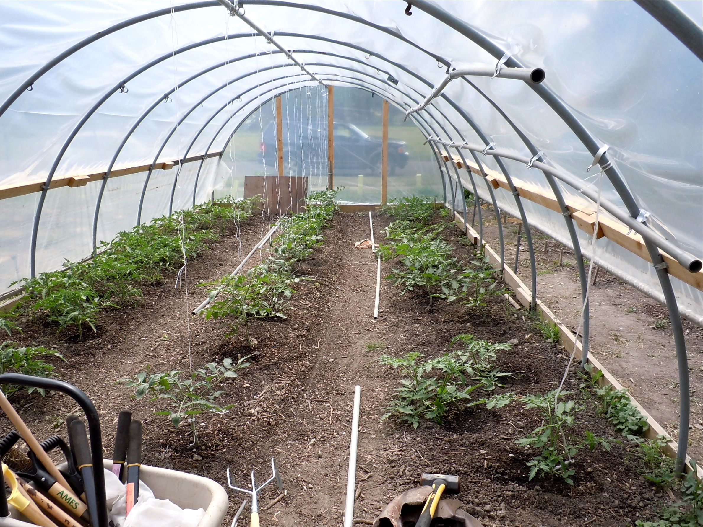 House construction hoop house construction plans for Greenhouse plans